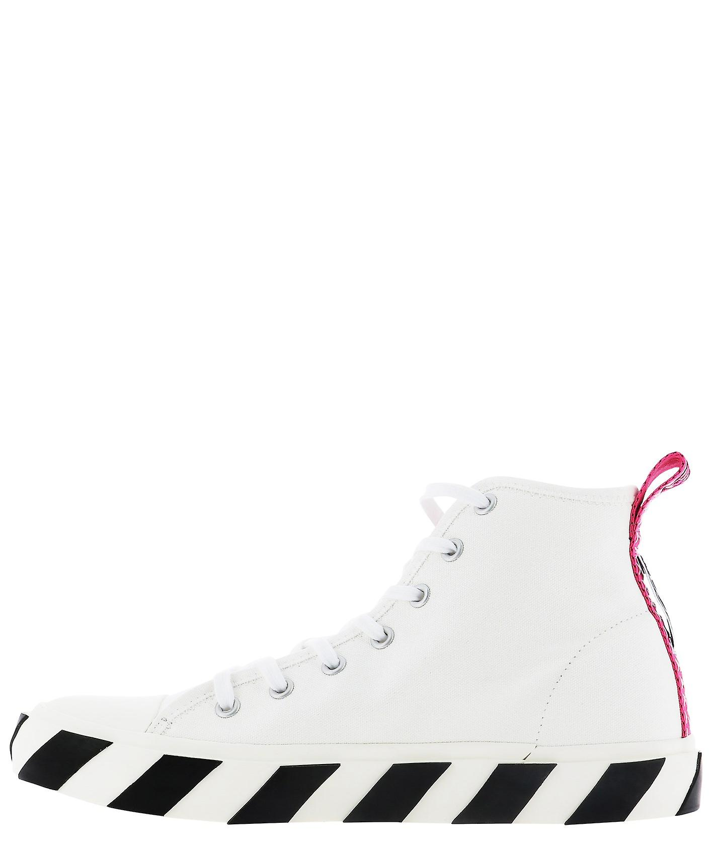 Off-bianco Omia119s20d330380110 Uomini's White Fabric Hi Top Sneakers R5RL5t
