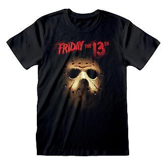 Fredag den 13: e Jason Mask Kvinnor & apos, pojkvän Fit T-shirt   Officiella varor