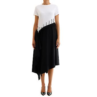 Loewe D2299950pc2370 Women's White/black Cotton Dress