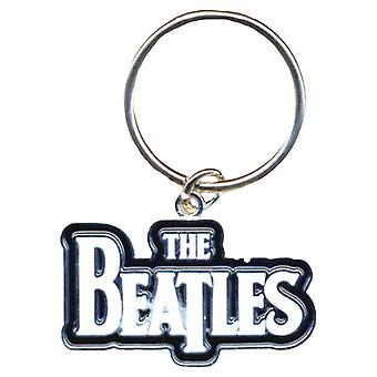 The Beatles Keyring Keychain Drop T Logo White new Official
