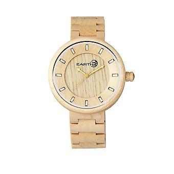 Rama de madera reloj de pulsera - de color caqui/Tan de la tierra