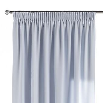 Vorhang mit Kräuselband, hellblau, 130 × 260 cm, Loneta, 133-35