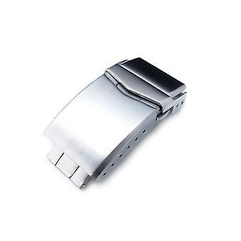 Застежка для часов Strapcode 18 мм, 20 мм или 22 мм из нержавеющей стали v застежка с двойным замком кнопки дайвера пряжка, матовая