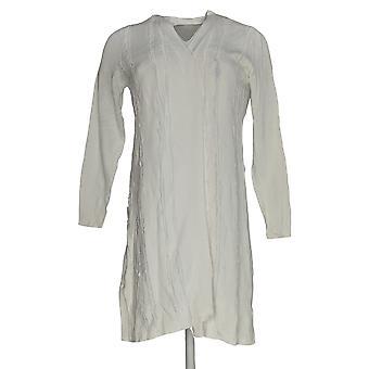 H By Halston Women's Sweater Cardigan W/ Eyelash Detail White A350389