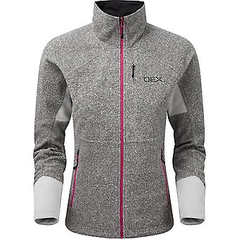 OEX Women's Igneous Stretch 250 Fleece Jacket Green/White