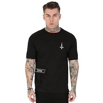 Judas Sinned | Stant Pocket Detail Large Back Logo T-shirt - Black