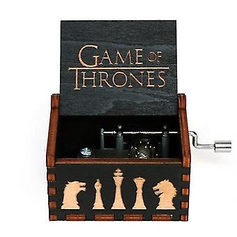 VIP-5 Wooden Hand Crank Music Box