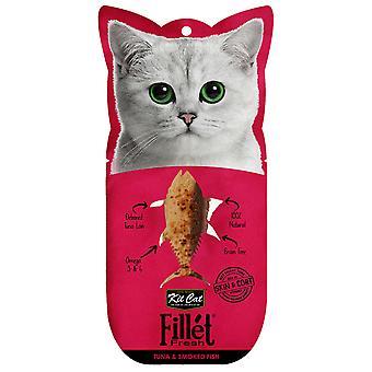 Kit Cat Filletfresh Atun y Pescado Ahumado (Cats , Treats , Chewy & Softer Treats )