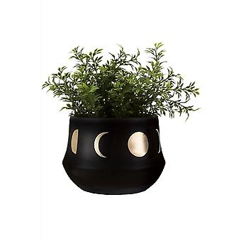 Gothic Homeware Moon Phases Black Planter