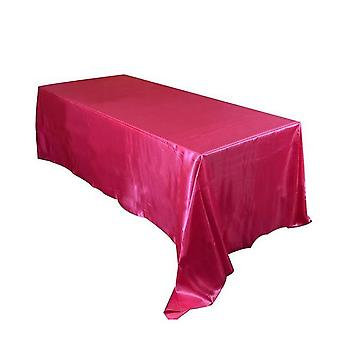Satin Rectangular Table Cloth For Wedding, Hotel Banquet, Party, Christmas,