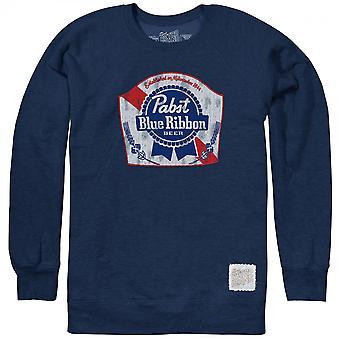 Pabst Blue Ribbon Beer Blue Fleece Crewneck Sweatshirt