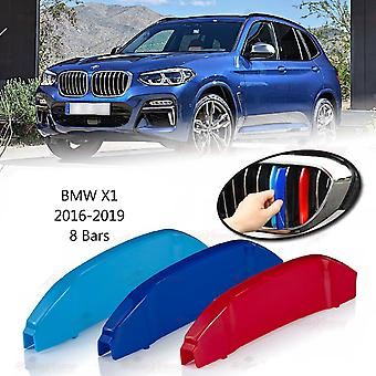BMW X1 2016-2019 8 Bars Clip In Grill M Power Kidney Stripes Cover
