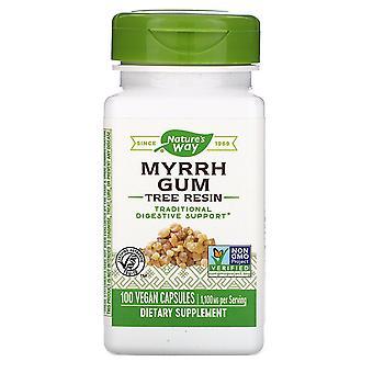 Nature's Way, Myrrh Gum, Tree Resin, 1,100 mg, 100 Vegan Capsules