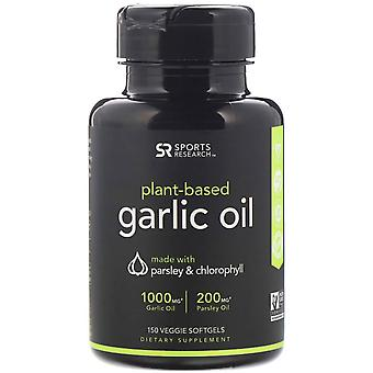 Sports Research, Plant-Based, Garlic Oil with Parsley & Chlorophyll, 150 Veggie