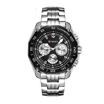 Fashion drie-eye horloge luxe Zwitserse men's stalen horloge