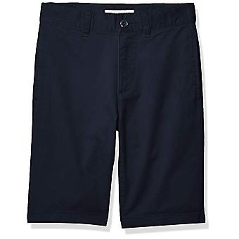 Essentials Boys' Woven Shorts, Navy Blue, 12(S)