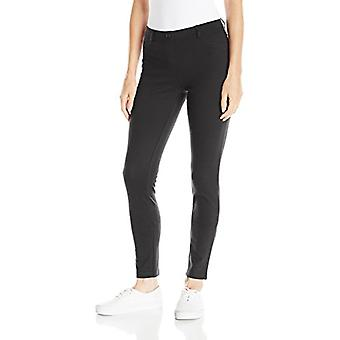 IZOD Junior's Uniform Stretch Interlock Jegging, Black, 5