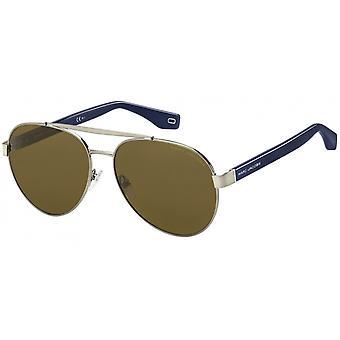 Sunglasses Men's men's pilot kat. 2 brown/blue