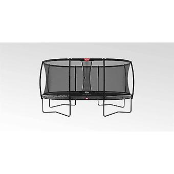 berg grey grand champion regular 350 12ft trampoline + safety net deluxe