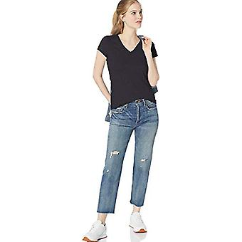Brand - Daily Ritual Women's Lightweight Lived-in Cotton Pocket V-Neck...