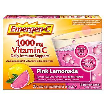 Emergen-c 1000 mg vitamin c, pink lemonade, 30 ea *