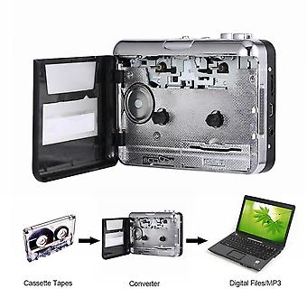 Usb2.0 Portable Tape To Pc Super Cassette For Mp3 Audio Music Cd Digital Player Converter Capture Recorder +headphone