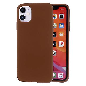 Ultra Thin Shell for iPhone 11 Lightweight Soft Solid Color Silicone Ultra-Slim Brown