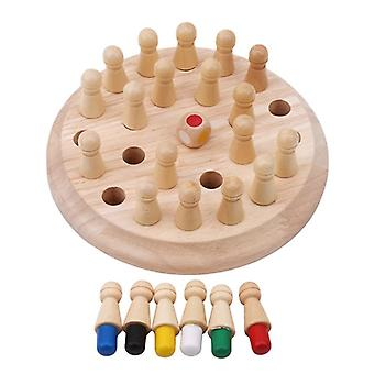 Wooden Memory Match Stick Chess Game- Fun Block Board Educational Color