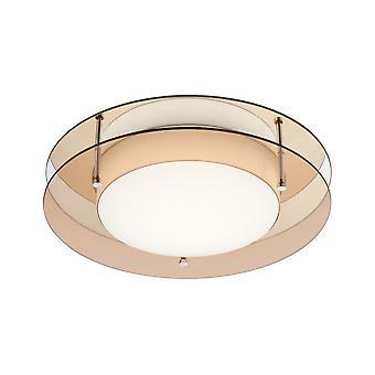Éclairage Luminosa - Plafond à chasse d'eau, 1 x 18W LED, 3000K, 1620lm, IP44, Ambre, Miroir