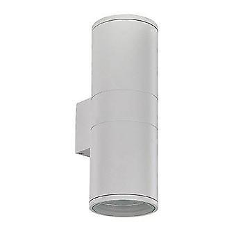 Ideel Lux Gun - 2 lys udendørs stor op ad væggen lys hvid, sort IP54, E27