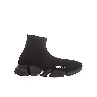 Balenciaga 617239w1701113 Men's Black Fabric Hi Top Sneakers