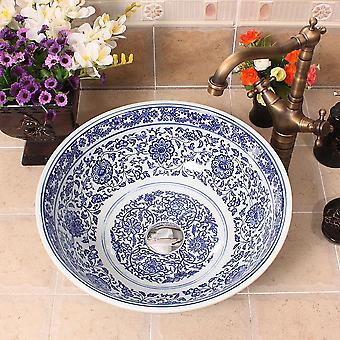 Jingdezhen Art Counter Ceramic Sink - Wash Basin To Bathroom