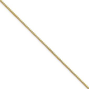 10k Yellow Gold Solid Polished .75mm Box Chain Anklet 9 Inch Lobster Claw Jewelry Gifts for Women