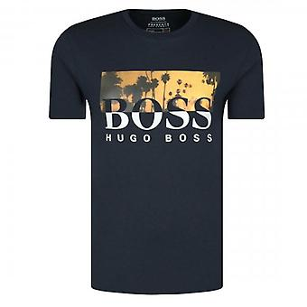Boss Green Hugo Boss TSummer Graphic Logo T-Shirt Navy 50435831