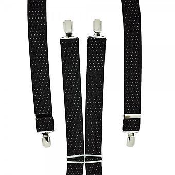 Krawatten Planet schwarz & weiß Polka Pin Dot Männer's Hosenträger