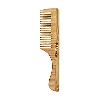 Comb with tight teeth natural ash handle 1 unit
