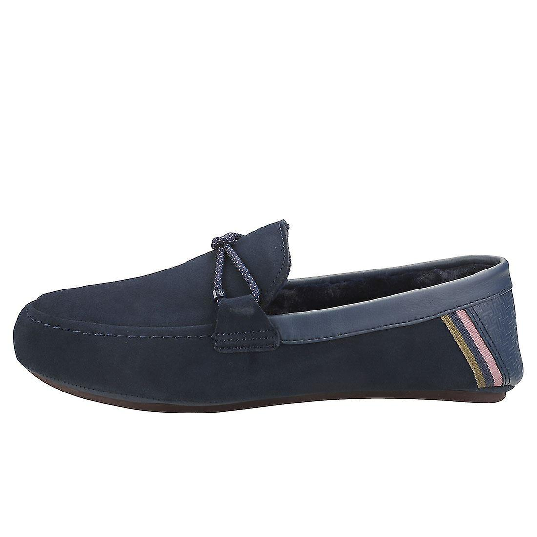 Ted Baker Seffel Mens Slippers Shoes in Navy