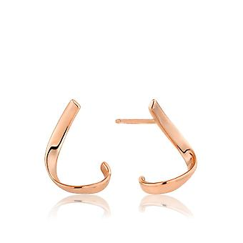 Ania Haie Rose Gold Twist Stud Earrings E008-20R