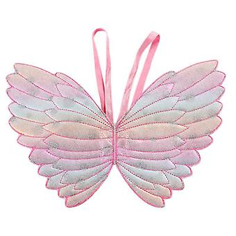 Cute Props Gradient Color Butterfly Princess Angel Wings Fairy Stick Kids Dress