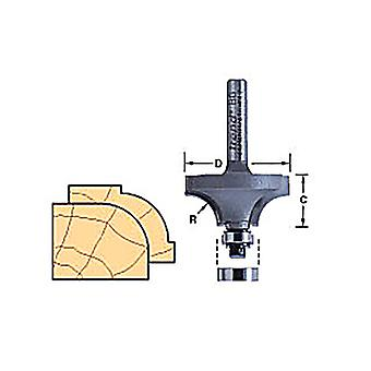 "Trend 46/150X1/4TC 46/150 x 1/4"" TCT Rounding Over Ovolo Router Cutter"