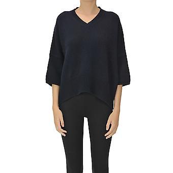 Aragona Ezgl157047 Women's Blue Cashmere Sweater