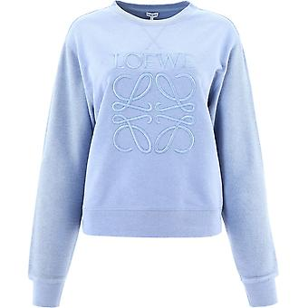 Loewe S359341xa85265 Kvinder's Lyseblå Bomuld Sweatshirt