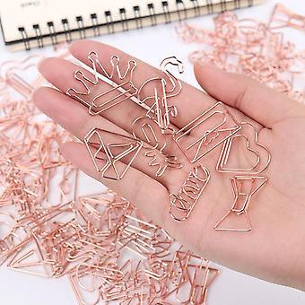 5pc de clipes de papel de revestimento de marcador bonito