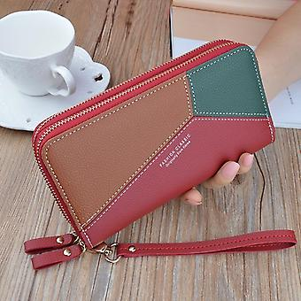 Women Wallets Credit Wallet  Pu Leather Money Clip Long Lady Purse For Coins