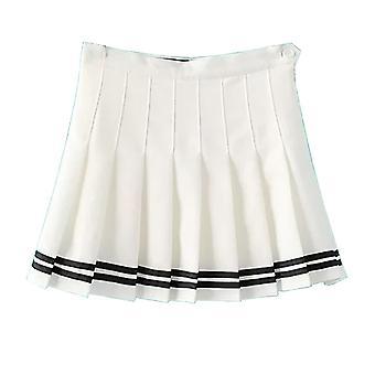 Jupe mini skater de style de tennis plissée de taille supérieure pour femmes;apos;s High Waist Casual Tennis Style