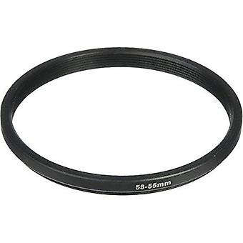 Phot-r® 58-55mm metal step-down ring adapter for camera filters and lenses 58- 55mm