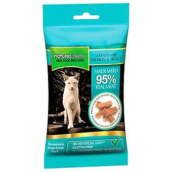 Natures Menu Cat Treats Salmon & Trout 60 Grs (Cats , Treats , Chewy & Softer Treats )