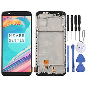 TFT Material LCD Screen and Digitizer Full Assembly with Frame for OnePlus 5T A5010 (Noir)