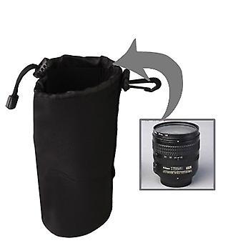 النيوبرين SLR كاميرا عدسة تحمل حقيبة مع Carabiner، الحجم: 10x22cm (أسود)