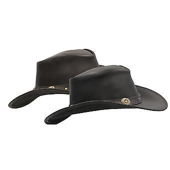 Walker e Hawkes - Chapéu de Cowboy Cowhide de Couro